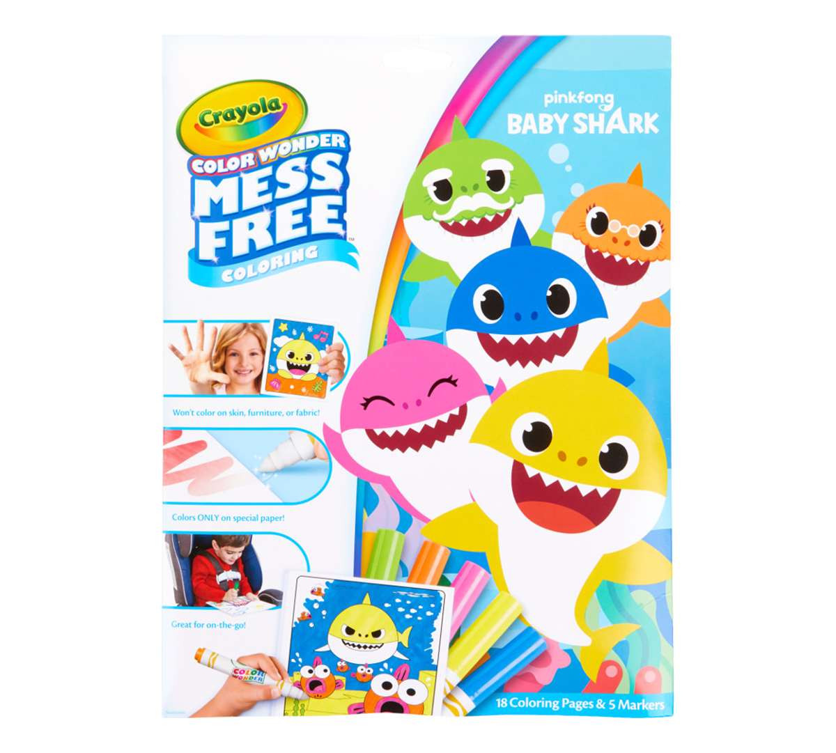 Crayola Color Wonder Pinkfong Baby Shark Coloring Set ...